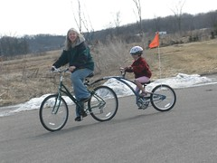Olivia and I on the 1st Ride of the Season