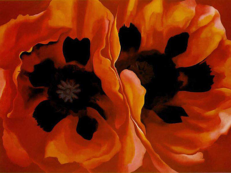 Oriental Poppies, 1927, Georgia O'Keeffe