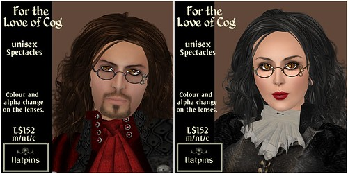 Hatpins - For the Love of Cog Specs