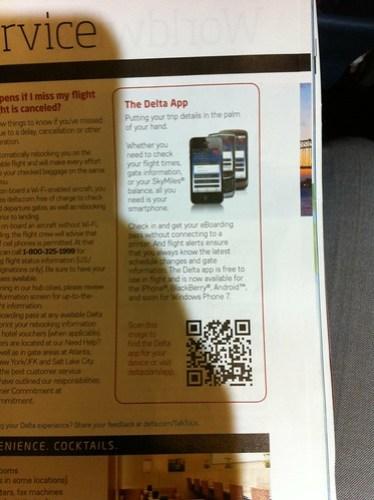 Delta QR code print ad