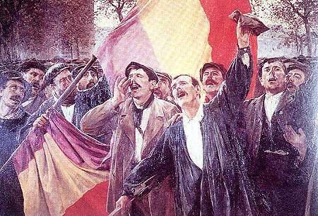 Proclamación de la Segunda República, imagen de http://guerracivil.sotmar.net