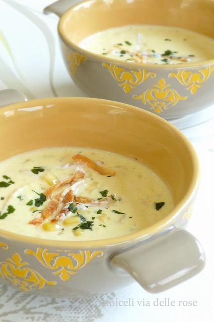 Zuppa di mais al cocco speziata - Corn soup