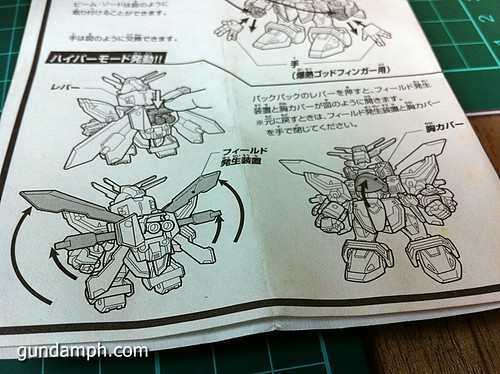 SD Archive God Gundam (12) Out Of Box Review