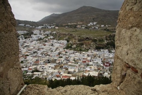 View of Lindos from the acropolis