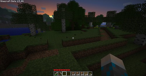 Minecraft - Unfinished Road At Sunset