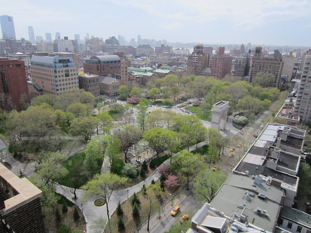A view of Washington Square Park from above.