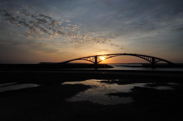 澎湖彩虹橋落日