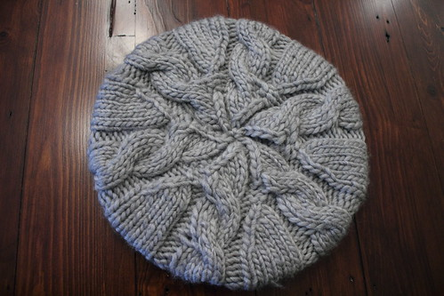 slouchy cable hat
