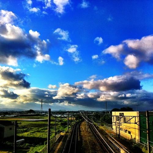 いま空、やっと青空になったネ! #imasora #sunset