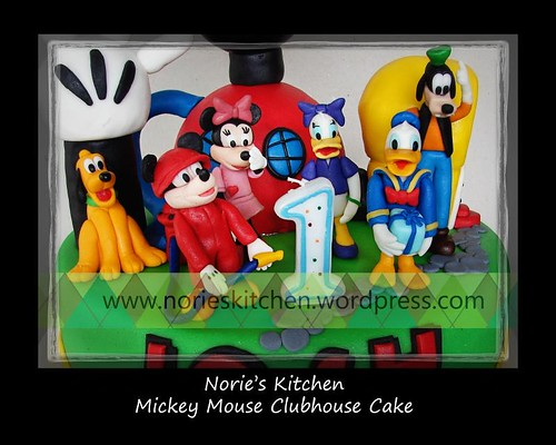 Norie's Kitchen - Mickey Mouse Clubhouse - Cake topper details