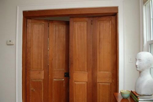 pine doors closed