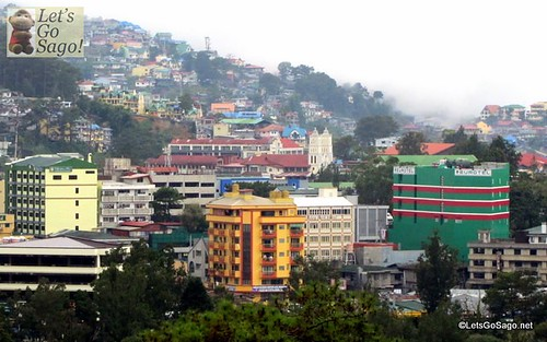 View from SM Baguio Viewing Deck (Eurotel building on lower right side)
