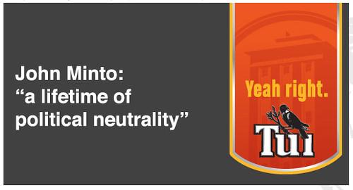 John Minto: A lifetime of political neutrality