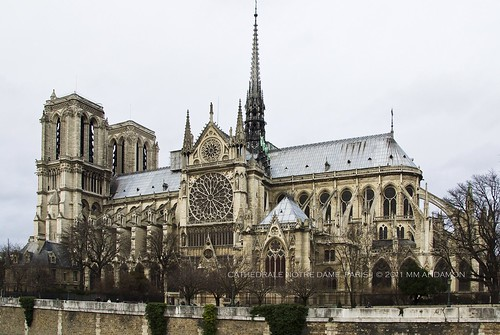 View from the south, Notre Dame de Paris