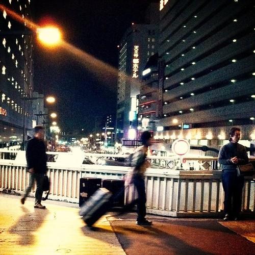 |///|ヽ(゚Д゚ )ノ|///|タダイマー やっぱ、天王寺に戻ると、ε-(´∀`*)ホッとするね! みんなー、今日も一日、お疲れ様でした。 #Osaka #Abeno #night