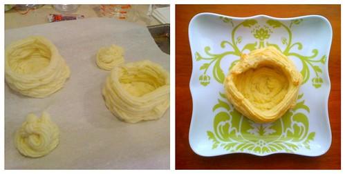 piping/baked duchess potatoes