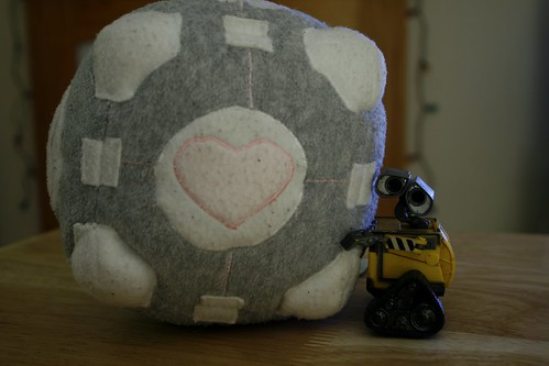 Day 250 - Weighted Companion Cube by ajwalters