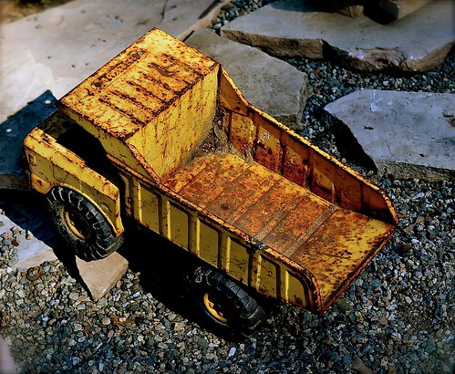 Antique Toy Dump Truck by Shirley Buxton