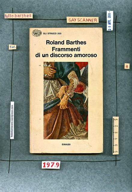 Roland Barthes, Frammenti di un discorso amoroso. Einaudi 1979. copertina