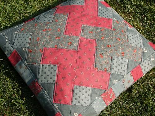 La Petite Ecole Patchwork cushion