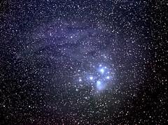 The Pleiades on Ektachrome 100 film in 1986