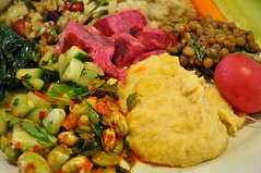 Detail: Mixed vegetable mezze