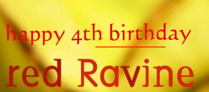 Happy 4th Birthday red Ravine!