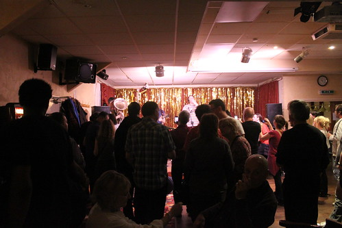 Filling out - inside the Waltham Forest Social Club