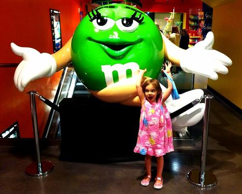Giant Girl m&m. Yum.