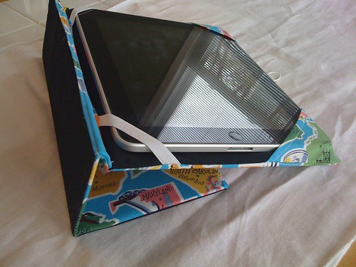 iPad case inside/folded
