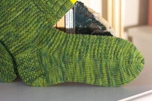 Ringwood Forest Socks: detail