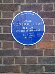 English Heritage plaque for inventor of time t...