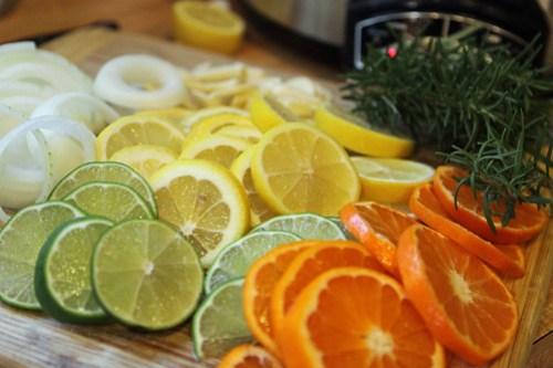 rosemary citrus chicken prep