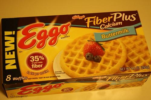Eggo Fiber Plus Calcium waffles