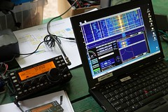 "Elecraft KX3 and HDSDR • <a style=""font-size:0.8em;"" href=""http://www.flickr.com/photos/54494252@N00/7161943752/"" target=""_blank"">View on Flickr</a>"
