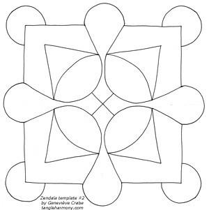 Mandala template #2