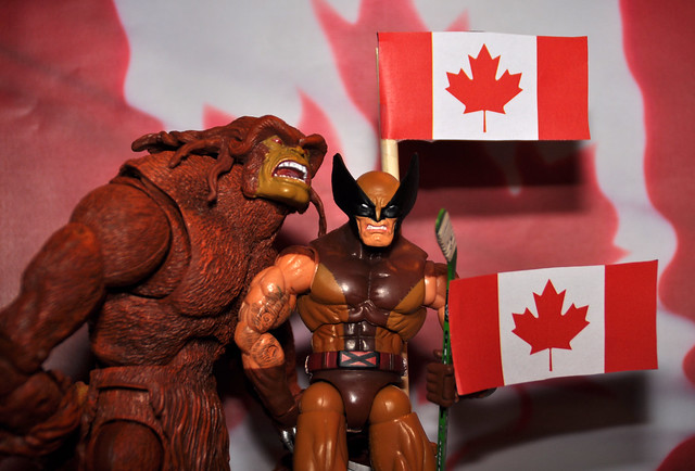 "Sasquatch and Wolverine belt out ""Oh Canada"""