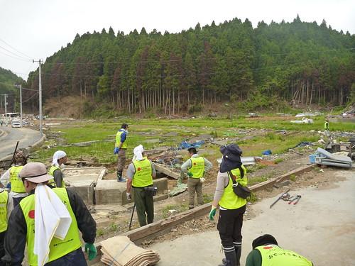 南三陸町(寄木地区)でボランティア Japan Quake Volunteer at Yoriki, Miyagi pref.