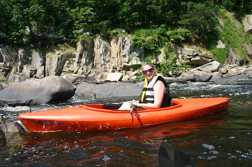 Kayaking Occoquan River - Vicky With Life Jacket (By Ryan Somma)
