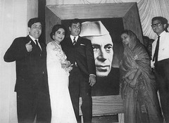 Vyjayanthimala with Raj Kapoor and Rajendra Kumar