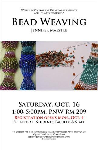 Bead Weaving poster