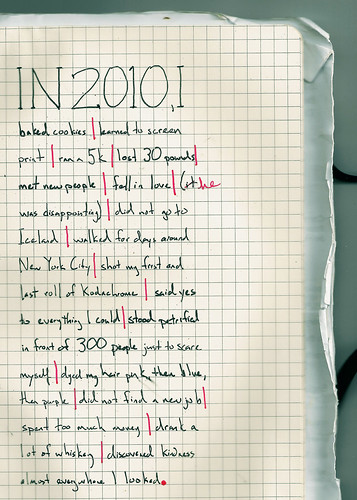 2010: Things I Did