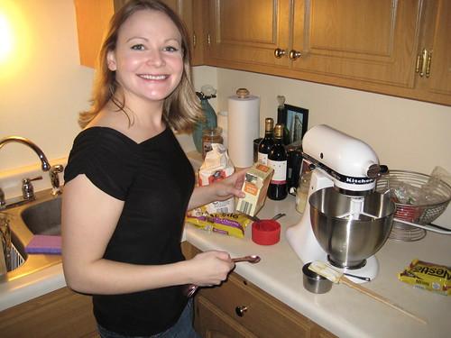 baking with kitchen aid mixer