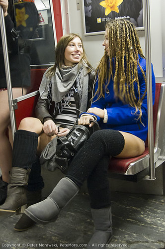 2011 No Pants Subway Ride: Hey