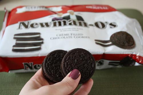 Newman-O's chocolate creme cookies