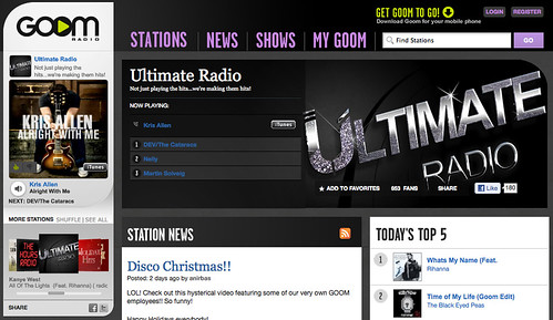 Kris Allen Alright With Me played spin on GOOM Radio Ultimate GOOM radio station