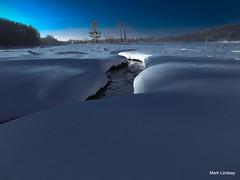 Winter Shadows at Brown Bridge Pond