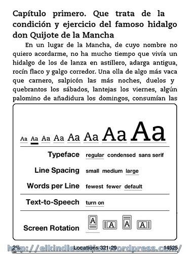 El Quijote - Tamaño de letra 2