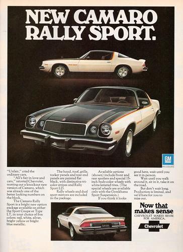 1976 Chevrolet Camaro Rally Sport Ad