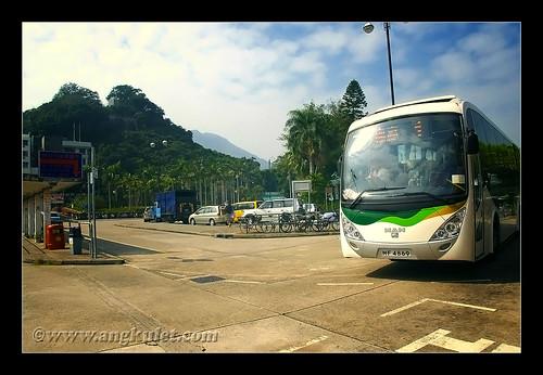 Mui Wo bus terminal, Lantau Island, HK 2010